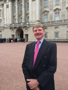 Michael Bower at Buckingham Palace