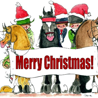 christmas horses with riders2 - Christmas Horses