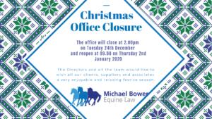 MBEL Christmas Office Closure