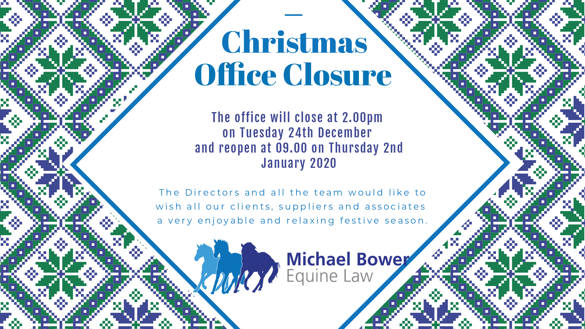 MBEL Christmas Office Closure